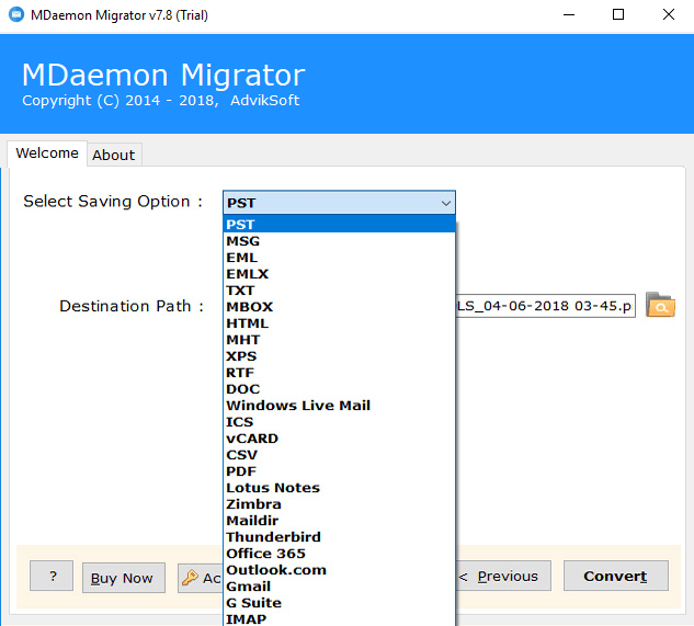 MDaemon Migration Tool - Export MDaemon Emails to Office 365, G